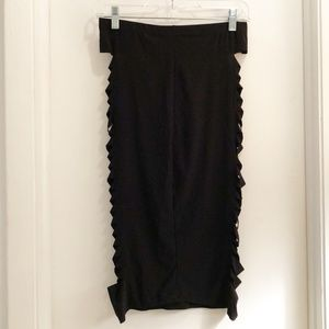 Body Central Bodycon Skirt Black Size Large